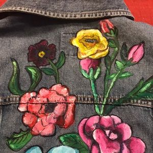 Fabulous Hand Painted Old Navy Jeans Vest M